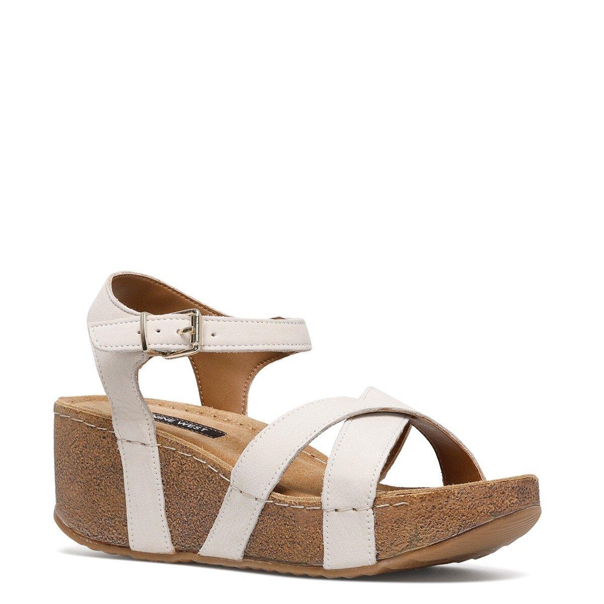 GOYARD 1FX Beyaz Kadın Dolgu Topuklu Sandalet