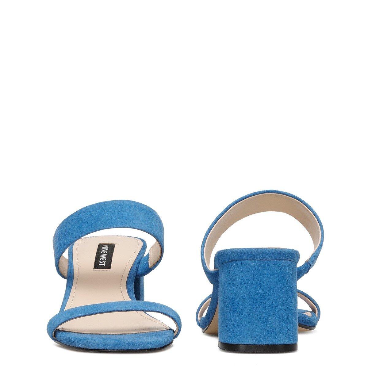 GALVIN Mavi Kadın Topuklu Terlik