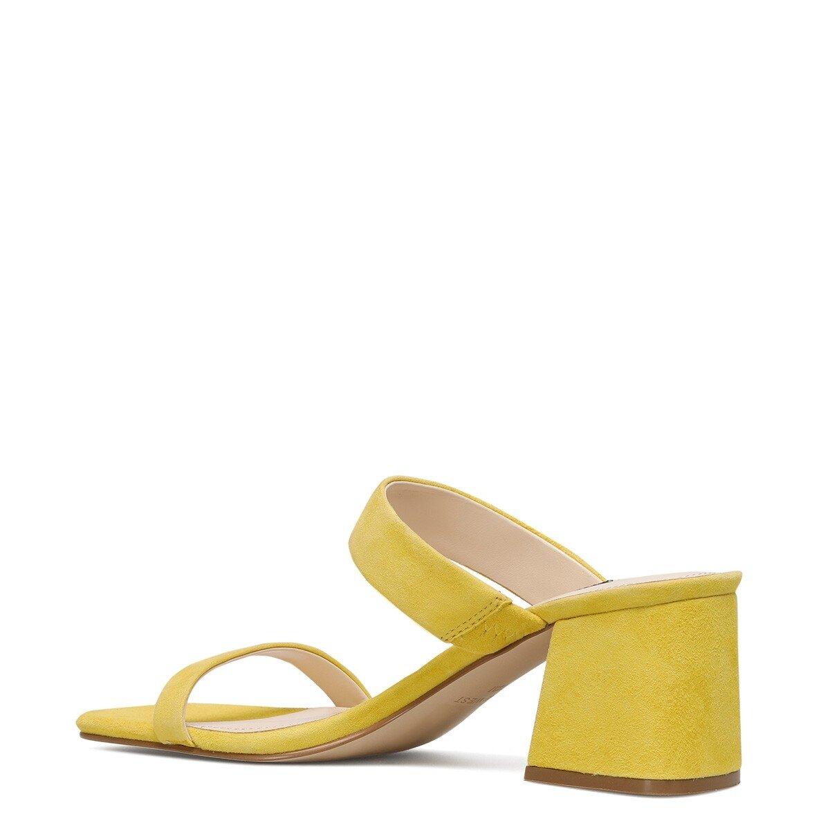 GALVIN Sarı Kadın Topuklu Terlik