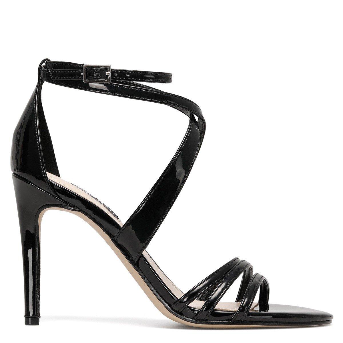 ILOV3 Siyah Kadın Topuklu Sandalet