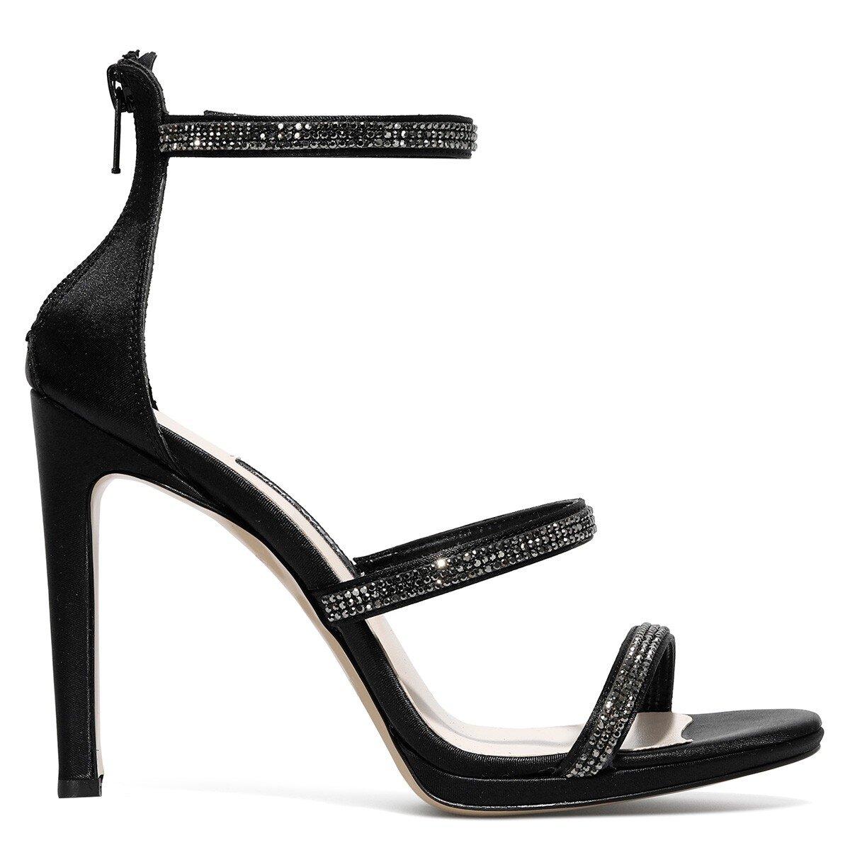 FEMINNA 1FX Siyah Kadın Topuklu Sandalet
