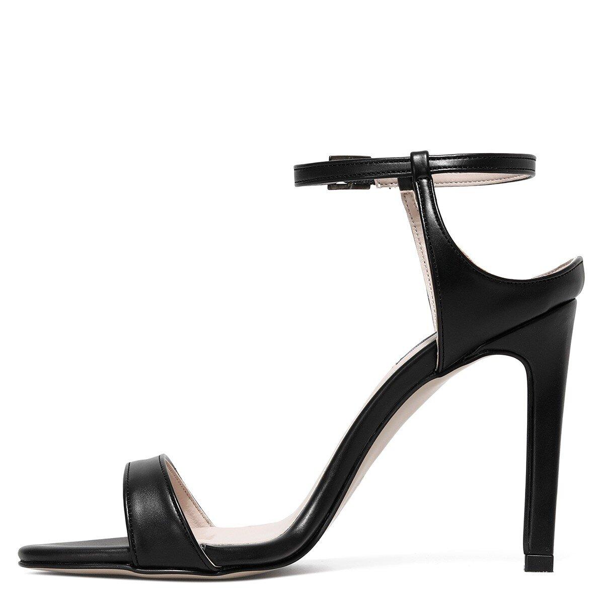HELLEMA 1FX Siyah Kadın Topuklu Sandalet