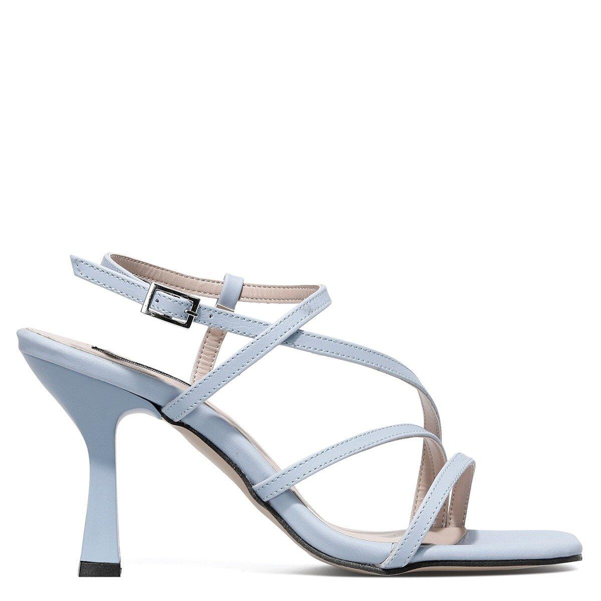 RIA 1FX Mavi Kadın Topuklu Sandalet