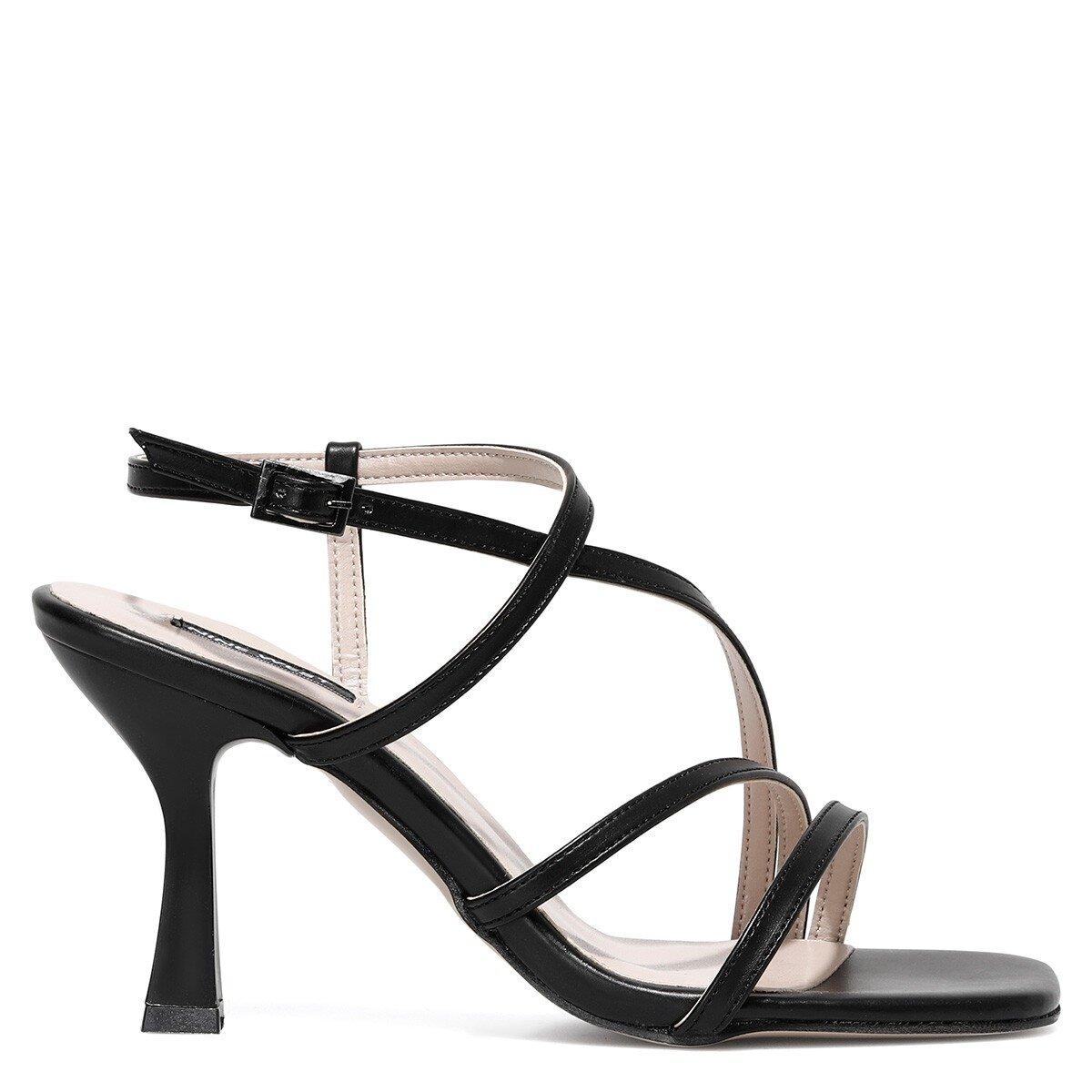 RIA 1FX Siyah Kadın Topuklu Ayakkabı
