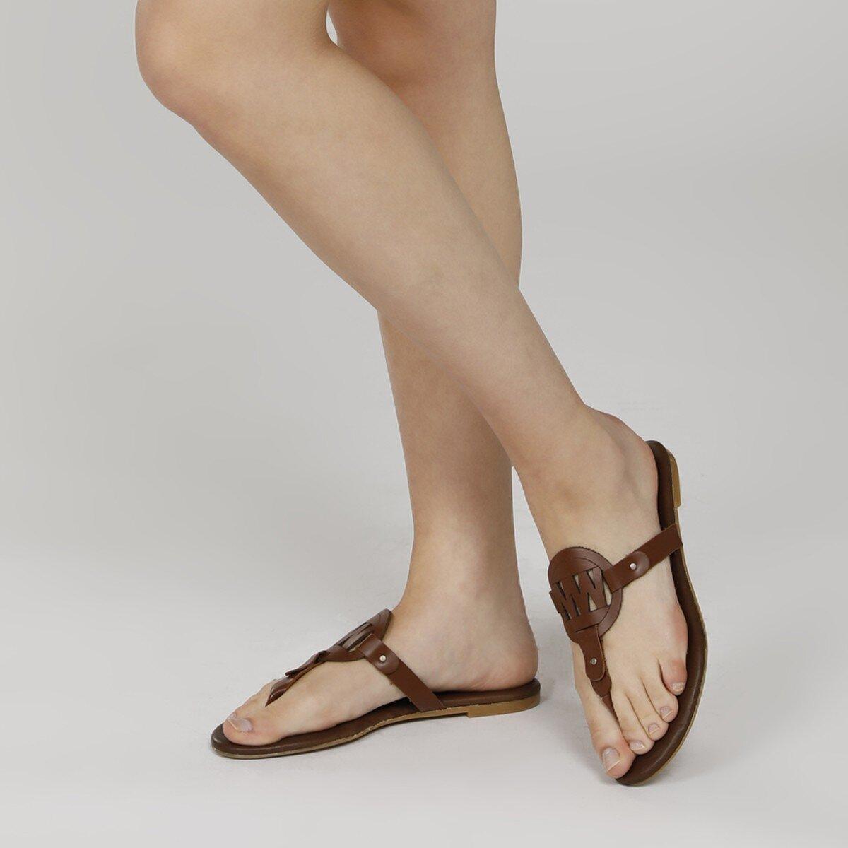 ARRIA Kahverengi Kadın Parmak Arası Terlik