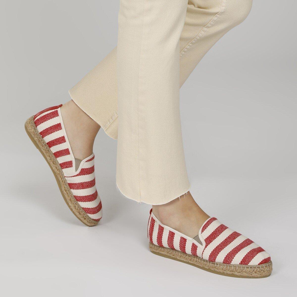 DARTENO 1FX Kırmızı Kadın Espadril Ayakkabı