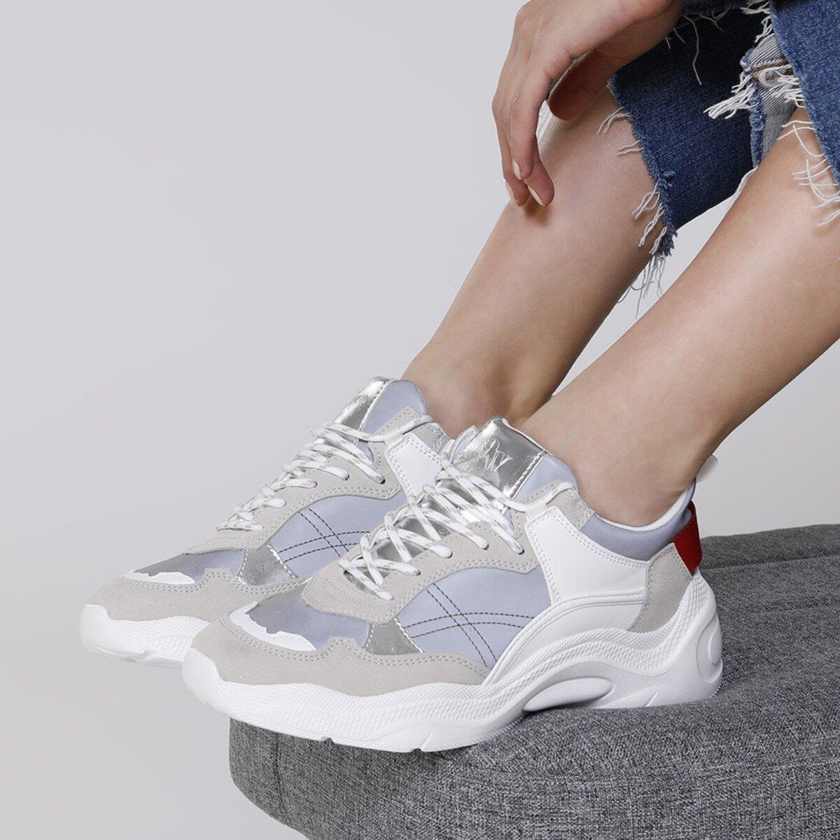 NICCO 1FX Gri Kadın Sneaker