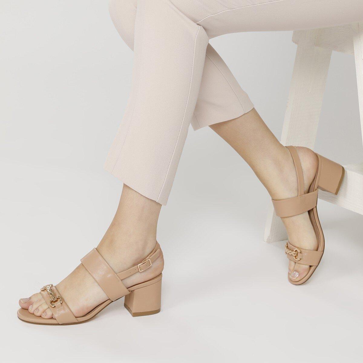 SAMARA 1FX Naturel Kadın Topuklu Sandalet