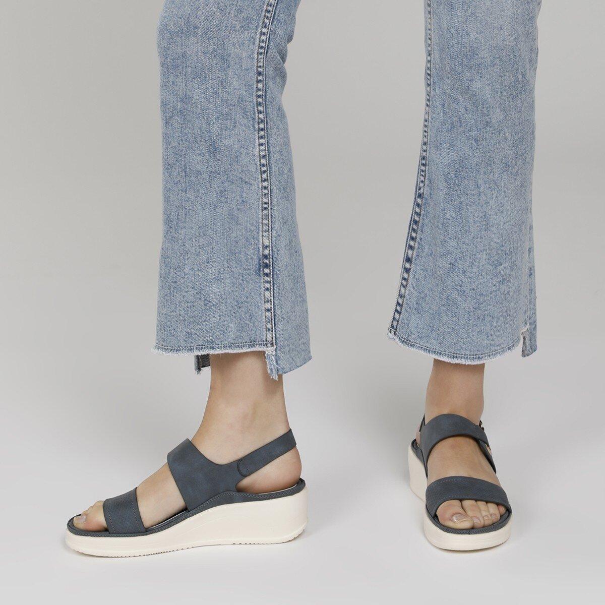 ACADDA 1FX Lacivert Kadın Kalın Taban Sandalet