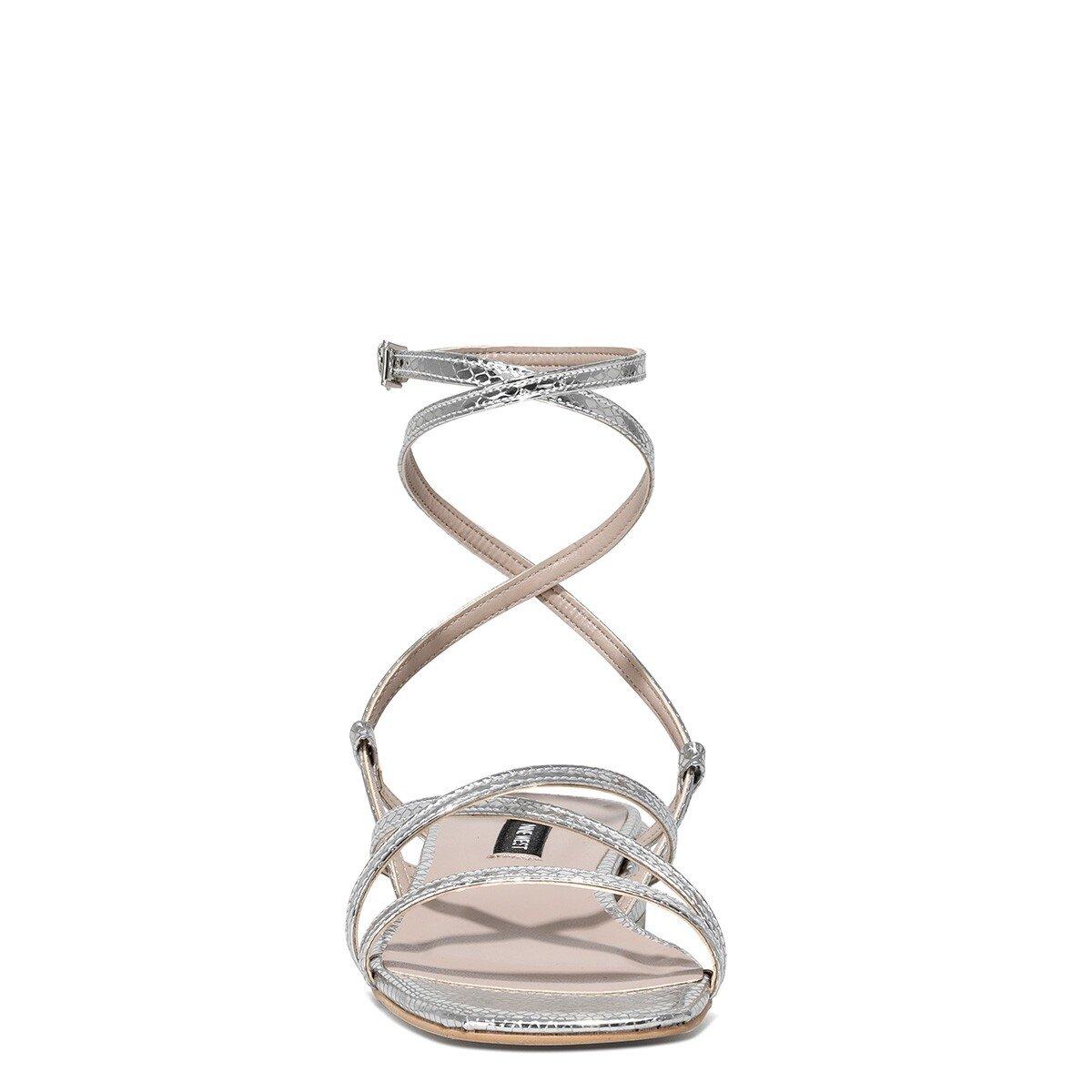 MEOLI 1FX Gümüş Kadın Topuklu Sandalet