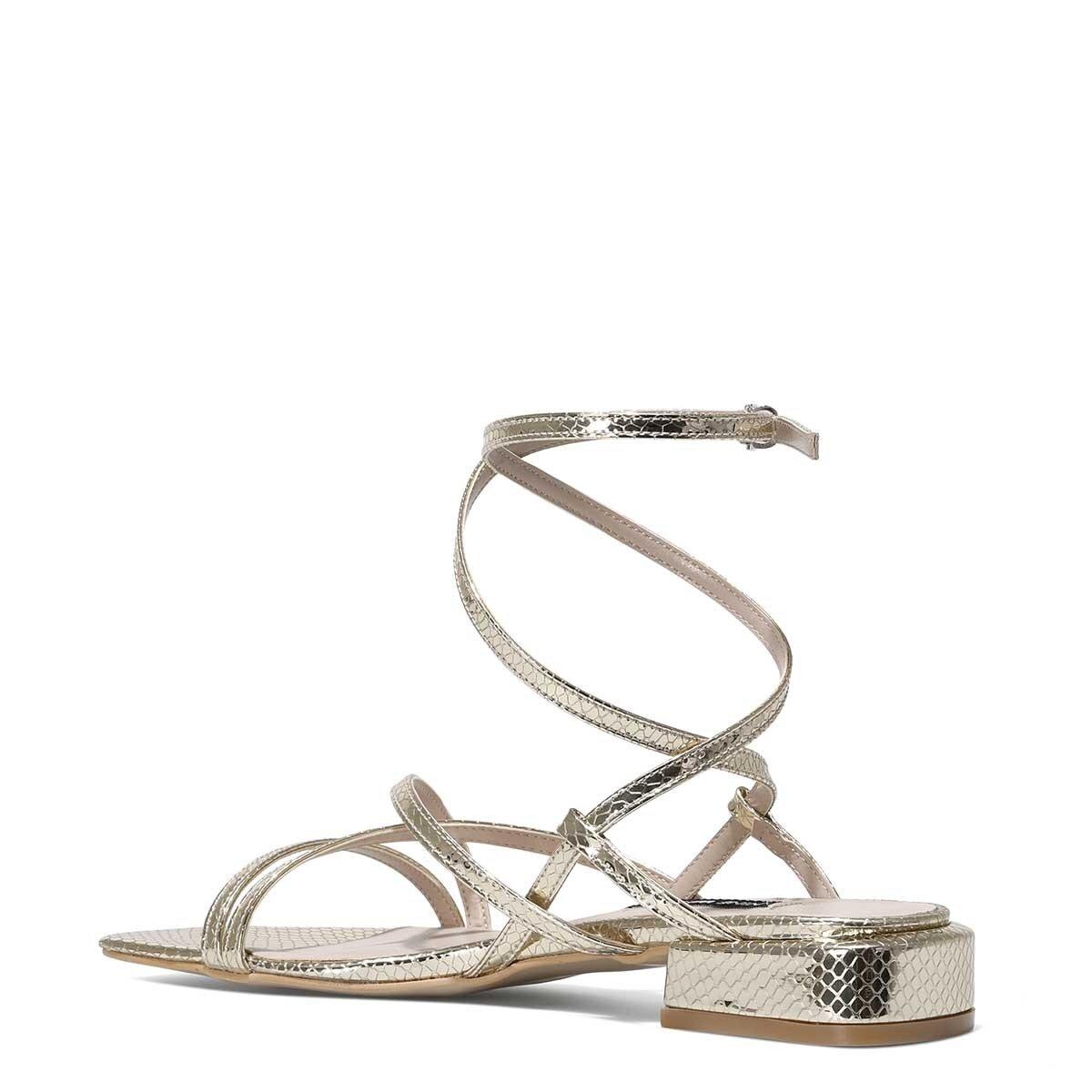 MEOLI 1FX Altın Kadın Topuklu Sandalet