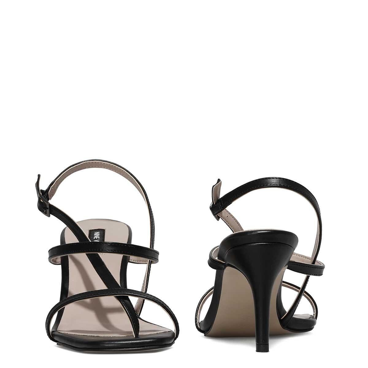 HEA 1FX Siyah Kadın Topuklu Sandalet
