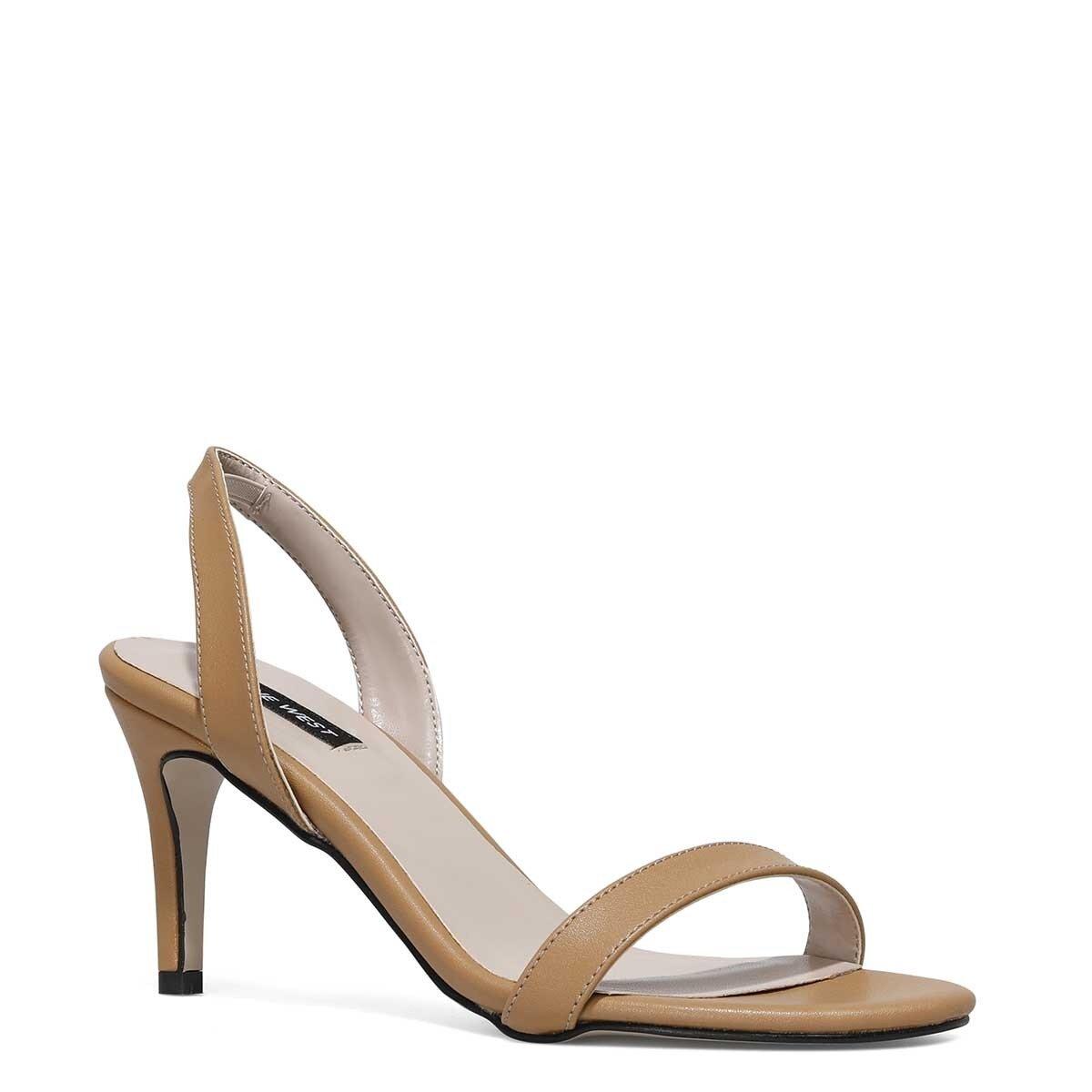 PUNAMI 1FX Taba Kadın Topuklu Sandalet