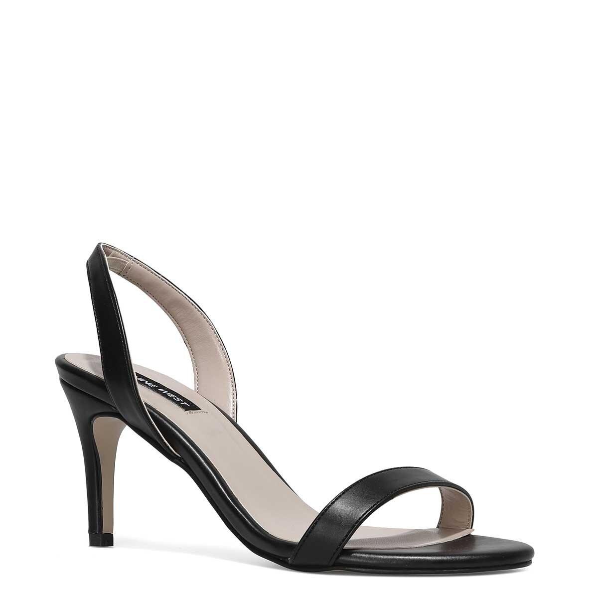 PUNAMI 1FX Siyah Kadın Topuklu Sandalet