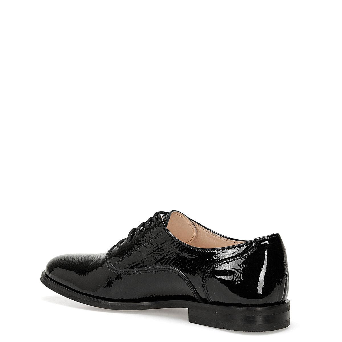 PATE Siyah Kadın Maskulen Ayakkabı