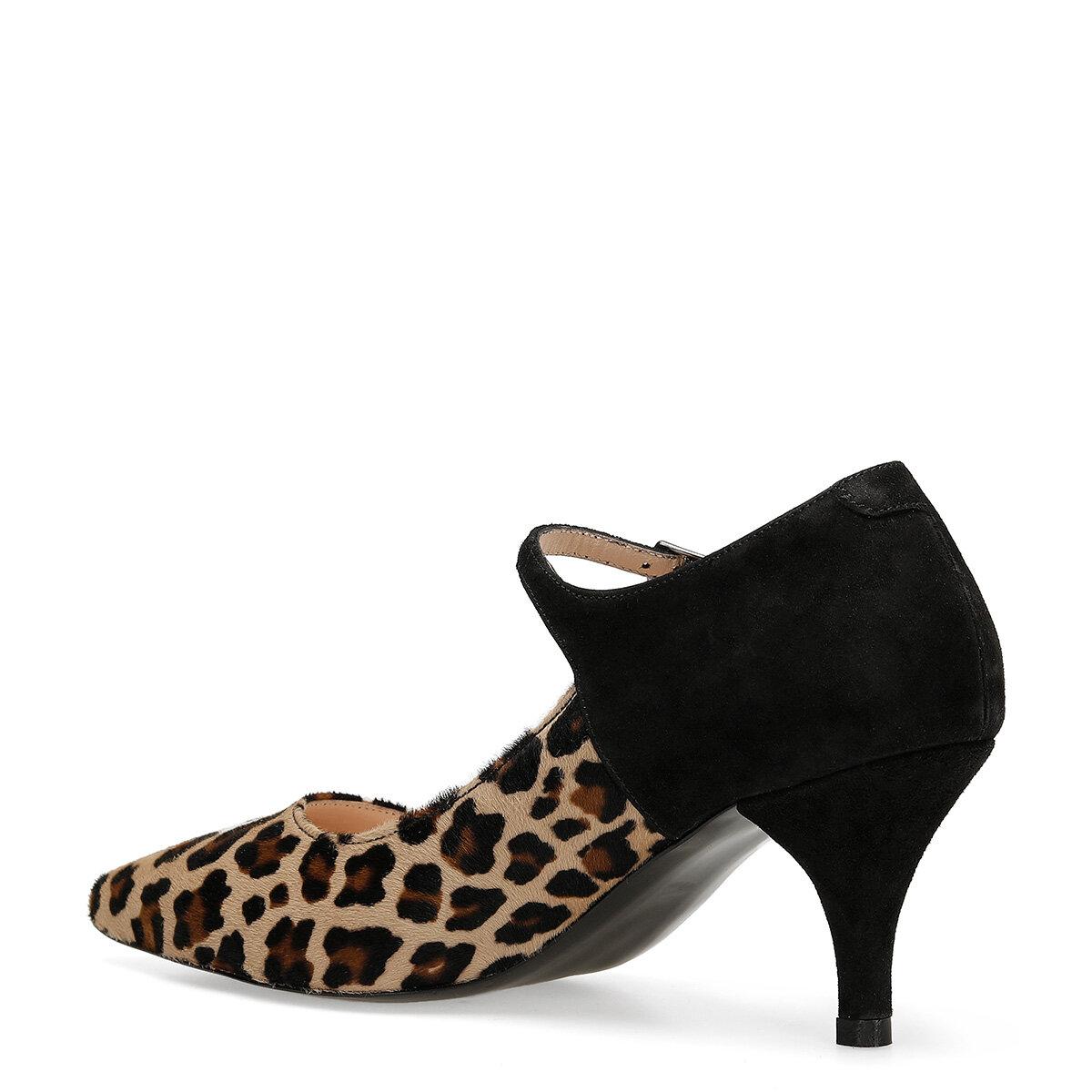 ARLI Leopar Kadın Topuklu Ayakkabı