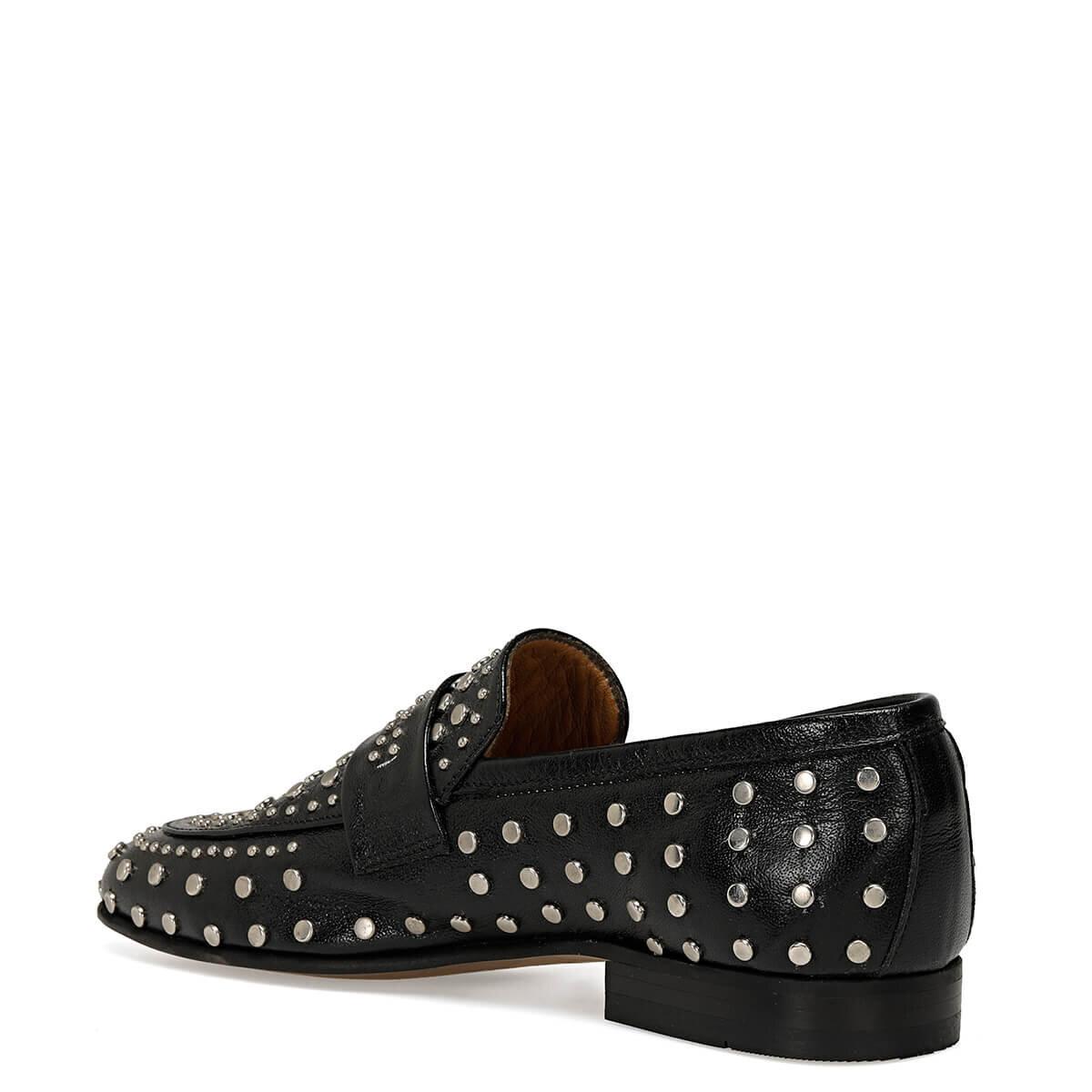 STUDY Siyah Kadın Loafer Ayakkabı