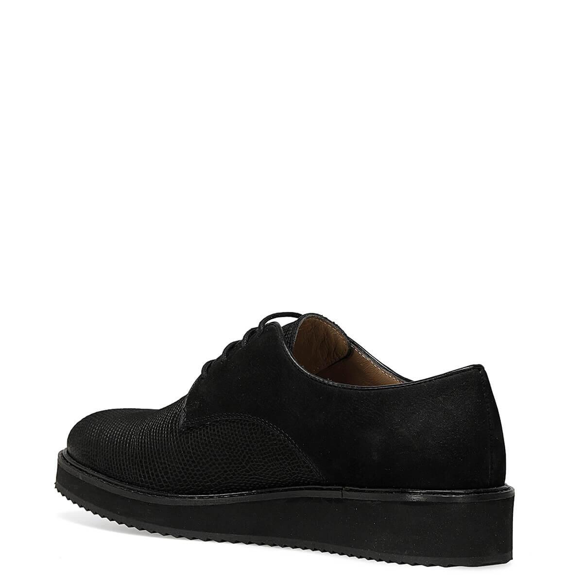 WADE Siyah Kadın Maskulen Ayakkabı