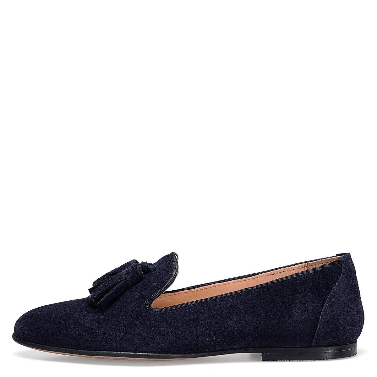 PANTO Lacivert Kadın Loafer Ayakkabı