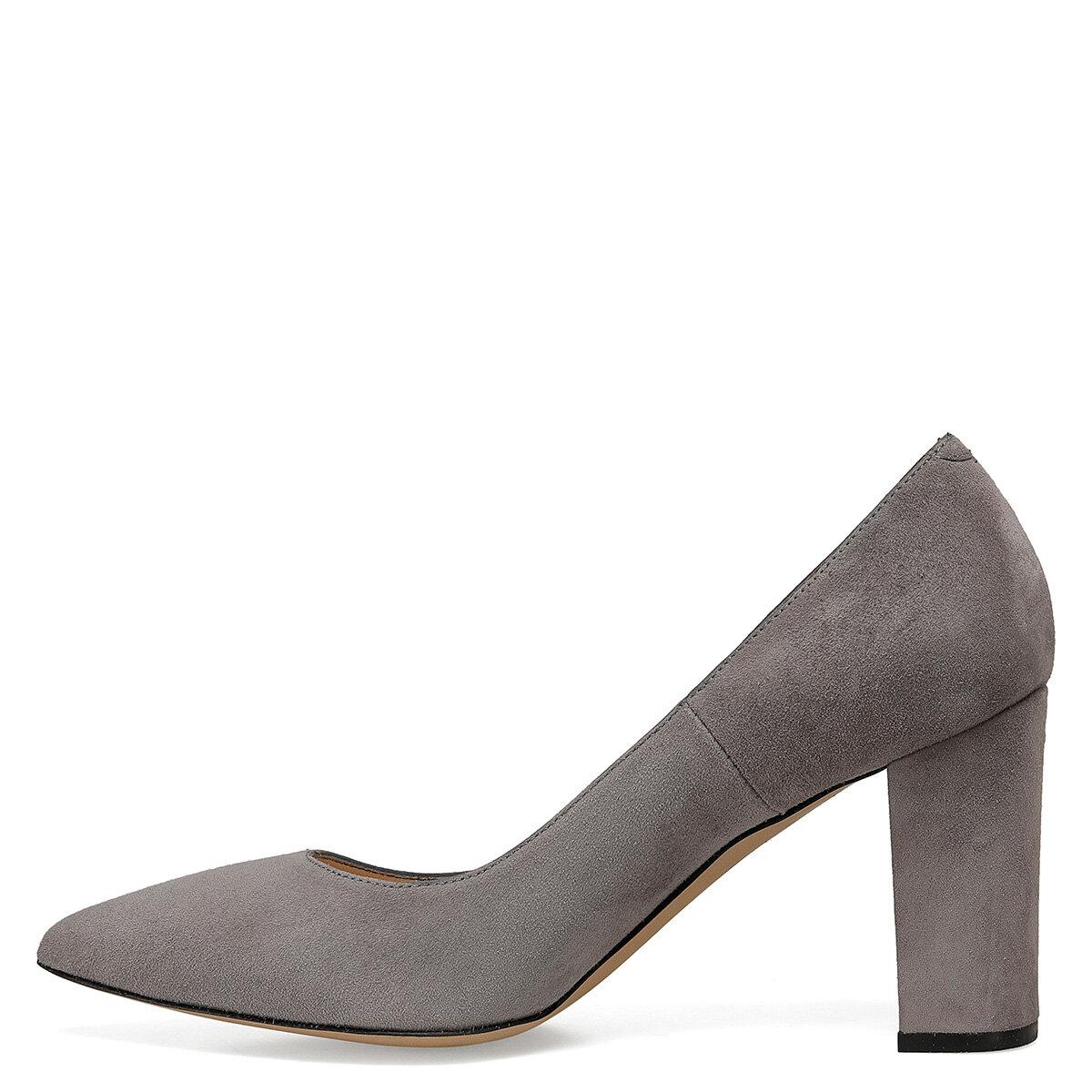 TORAS2 Gri Kadın Topuklu Ayakkabı