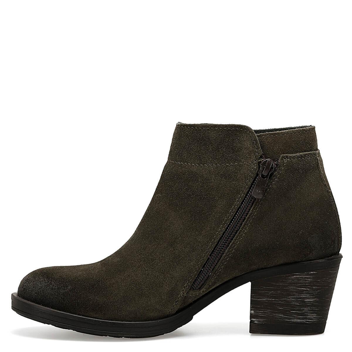 BOLCI Haki Kadın Topuklu Ayakkabı