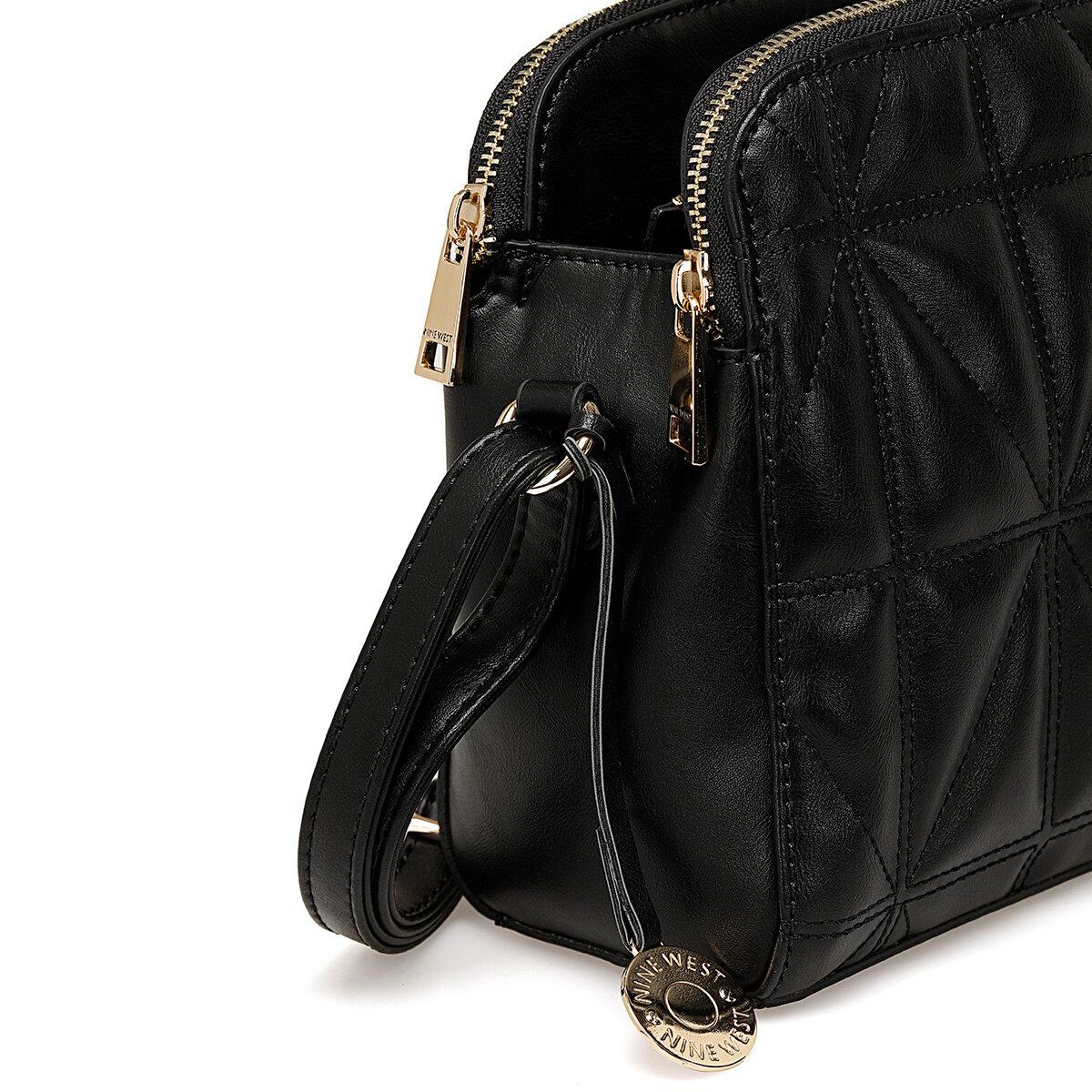 BIGQUILT Siyah Kadın Çapraz Çanta