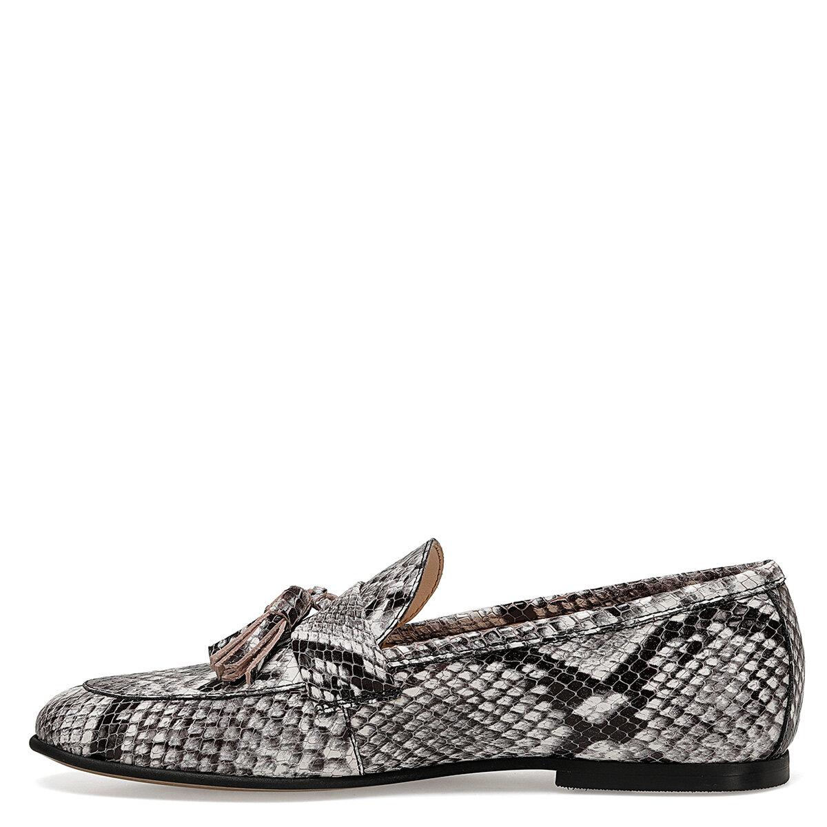 GILBERT Gri Kadın Loafer Ayakkabı