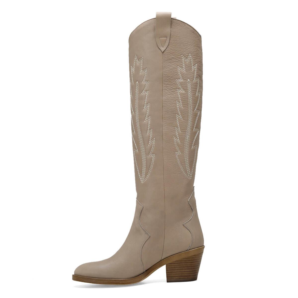 GANO Bej Kadın Çizme