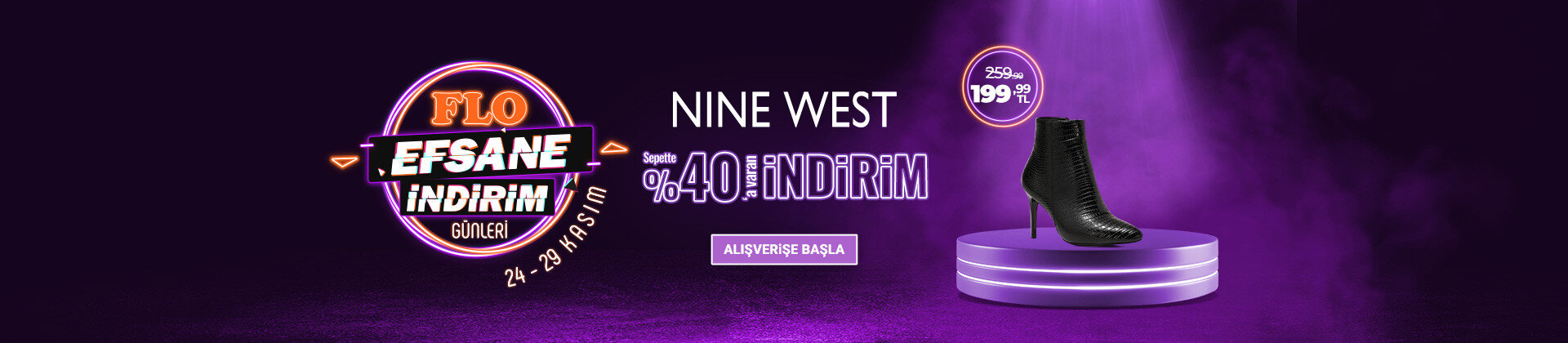 NINE WEST Sepette %40 a Varan İndirim