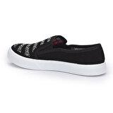 Polaris 71.354916.Z Siyah Kadın Slip On Ayakkabı