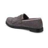 Butigo Z087 Gri Kadın Loafer Ayakkabı