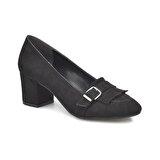 Miss F DS18040S Siyah Kadın Dress Ayakkabı
