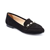 Polaris 82.312019SZ Siyah Kadın Loafer Ayakkabı