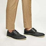 JJ-Stiller 5700-1 Siyah Erkek Klasik Ayakkabı