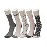 Miss F STAR 5 LI SKT-W Pembe Kadın Soket Çorap