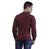 Slazenger INDIA Bordo Erkek Sweatshirt