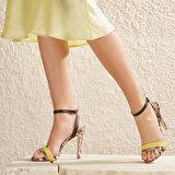 Butigo RIDDLE51Z CİLT Sarı Kadın Sandalet