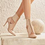 Butigo VIYAN12Y CİLT TEN Kadın Topuklu Ayakkabı