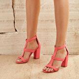 Butigo GONES25Y SÜET Mercan Kadın Topuklu Ayakkabı