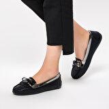 Miss F DS19029 Siyah Kadın Loafer Ayakkabı