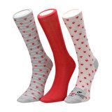 Miss F CATY 3 LU SKT-W Açık Kırmızı Kadın Soket Çorap