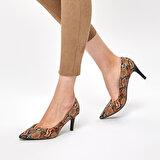 Miss F DW19002 Yılan Rengi Kadın Gova Ayakkabı