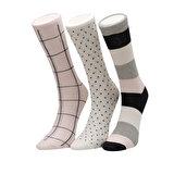 Miss F DOGS 3 LU SKT-W Lacivert Kadın Soket Çorap