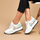 Butigo 19K-965 Beyaz Kadın Ayakkabı