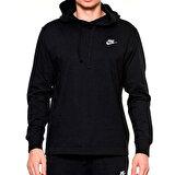 Nike M NSW CLUB HOODIE PO JSY Siyah Erkek Sweatshirt