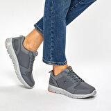 Kinetix OKA PU W 9PR Gri Kadın Koşu Ayakkabısı
