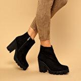 Butigo BİLBO Siyah Kadın Topuklu Bot