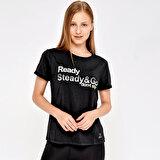 Kinetix W-1830 ROB KK TSHIRT Siyah Kadın T-Shirt
