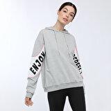 Kinetix W-1124 AUDRİNA SWEATSHIRT GRI MELANJ Kadın Sweatshirt