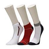 Kinetix SN429 WASA PATIK 3LU Kırmızı Erkek Çorap
